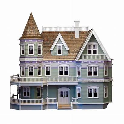Mansion Transparent Clipart Fancy Dollhouse Queen Anne