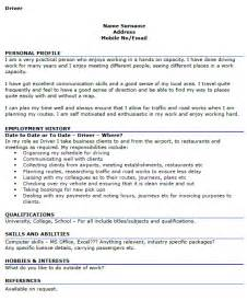 taxi driver curriculum vitae driver cv exles cover letters and cv exles