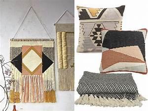 la deco a l39esprit tissage pour un interieur boheme With tapis ethnique avec achat coussin canapé
