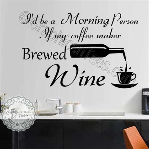 black and gold bedroom decor kitchen wall stickers wine quote decor decals