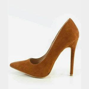 cognac colored heels 43 shoe republic la shoes cognac color suede pumps