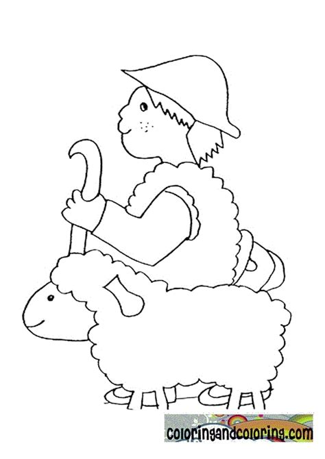 Bible Story David The Shepherd Boy Colouring Page Coloring