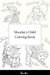 mondays child poem  childs personality  day   week famlii