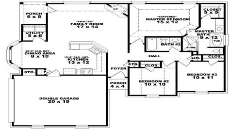 one floor plans 5 bedroom single house plans two bedroom one