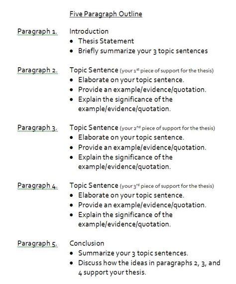 write   paragraph essay outline  paragraph