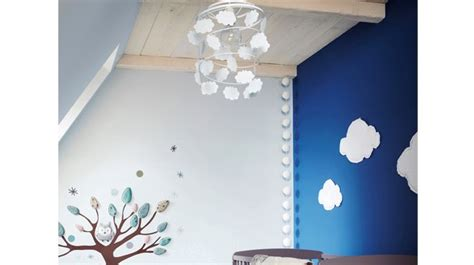chambre parentale bleue luminaires chambre bebe visuel 9