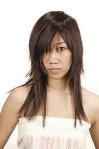 asian long layered haircut  long side bangs pics