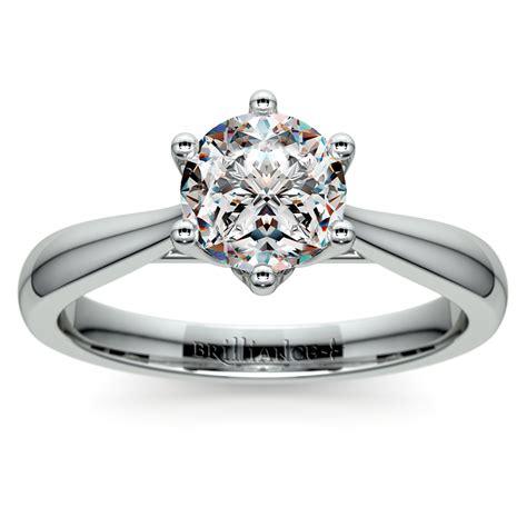 lotus diamond engagement ring  white gold
