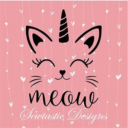 Cat Unicorn Vinyl Svg Cricut Caticorn Silhouette