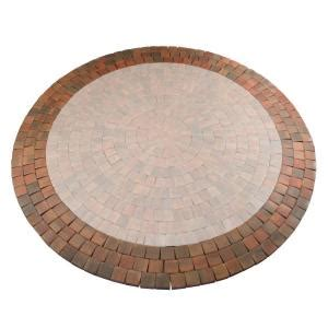 anchor 12 ft autumn blend cobble concrete paver