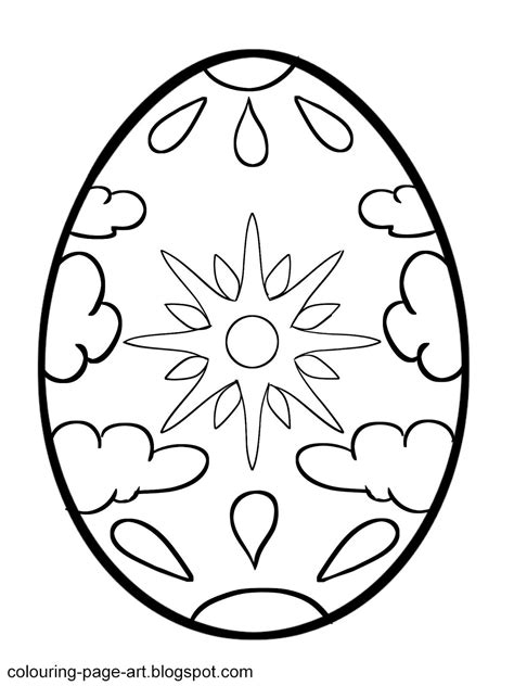 Coloring Easter Eggs by Easter Egg Printable Colouring Pages Easter