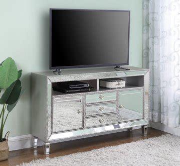 tv console  metallic platinum mirror  coaster