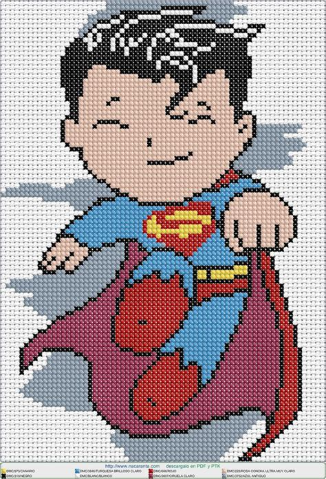 super nene en punto de cruz cross stitch pattern punto de cruz pinterest point de croix