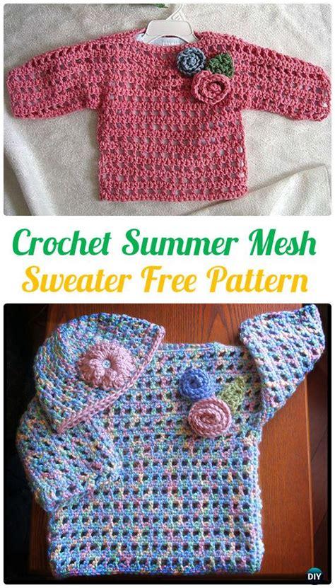 crochet kids sweater tops  patterns