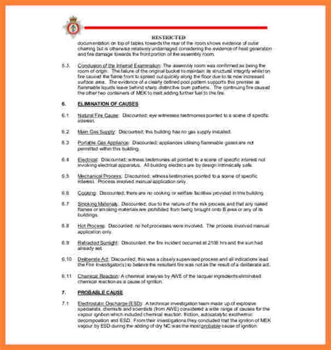 accident investigation report template progress report