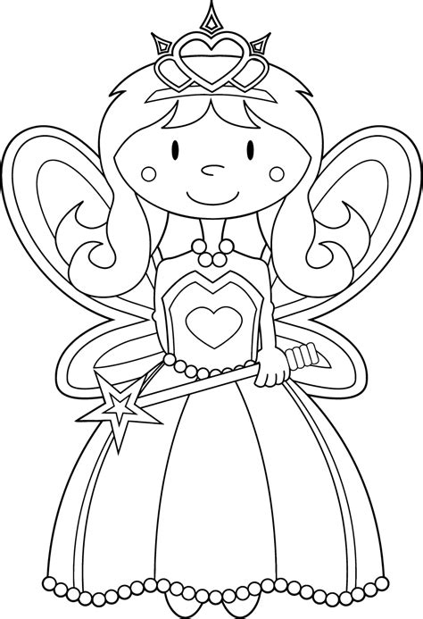 Fairy to download for free Fairy Kids Coloring Pages