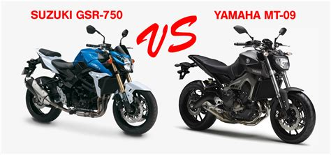 Mt Suzuki by Suzuki Gsr 750 Vs Yamaha Mt 09 The Bike Site