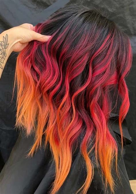 hottest red fire hair color shades  show