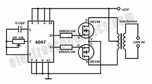 Circuit Diagram Of Inverter 12v To 230v