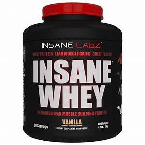 Insane Labz Insane Whey - 100  Muscle Building Whey Protein - 25 G Per Serving