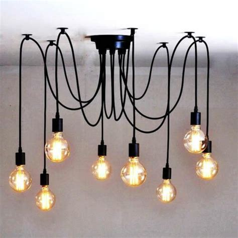 Diy Edison Chandelier by Vintage Edison Industrial Style Diy Chandelier Retro