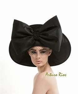 Black Couture Hat Avant garde hat Fashion hat black hat