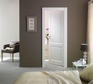 Porte D Entrée Blanche : porte d 39 entr e pleine blanche en bois mod le karine ~ Melissatoandfro.com Idées de Décoration