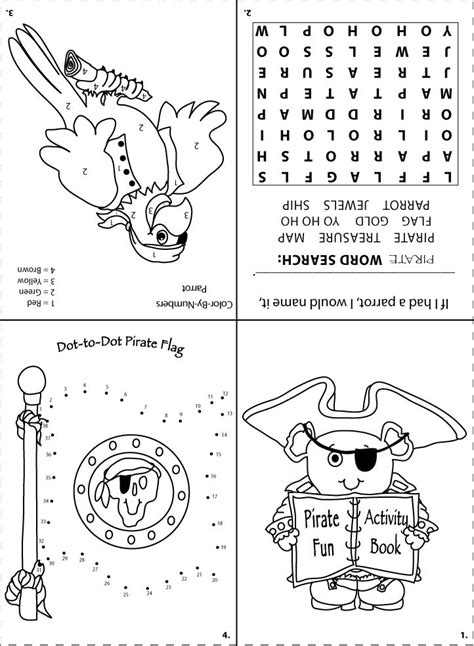 printable pirate activity sheet for goodie bags party ideas pinterest bags pirates and