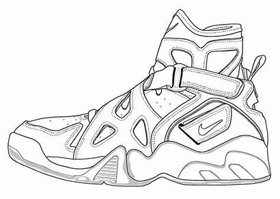 Nike Air Pages Drawing Sneaker Coloring Force