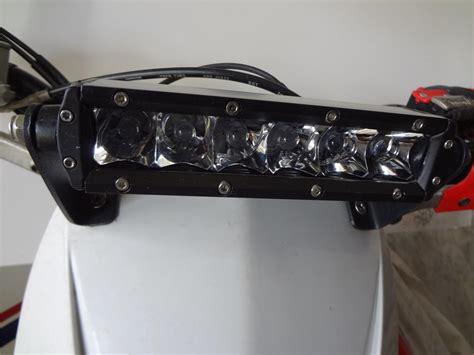 dirt bike led light bar 6 inch single row spot flood combo