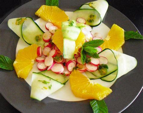 cuisiner avec un grand chef concombres et radis sauce aux agrumes la recette facile
