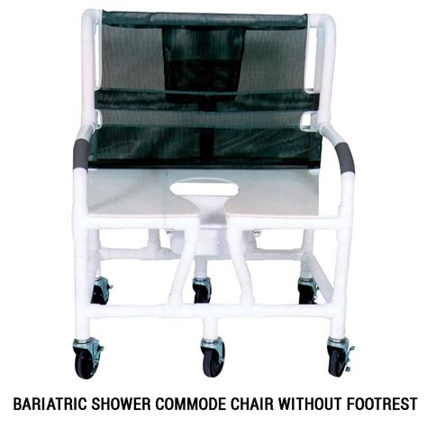 mjm international bariatric shower commode chair