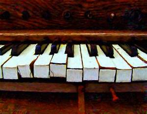 The Old Piano Painting by Michael Pickett