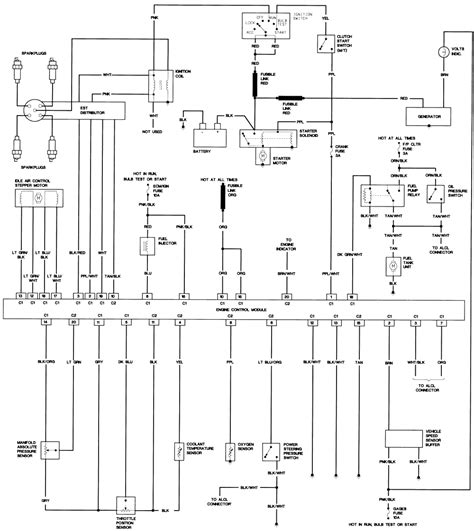 x10 l module schematic ford f250 1986 engine module wiring diagram all