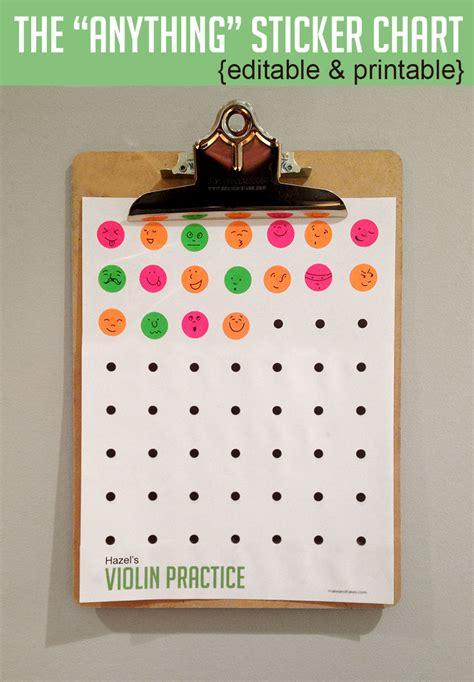 sticker chart  printable   takes