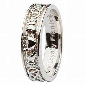 ladies silver claddagh celtic wedding ring With silver celtic wedding rings