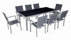 Salon De Jardin Textilene : salon de jardin 8 personnes table et chaises ~ Dailycaller-alerts.com Idées de Décoration