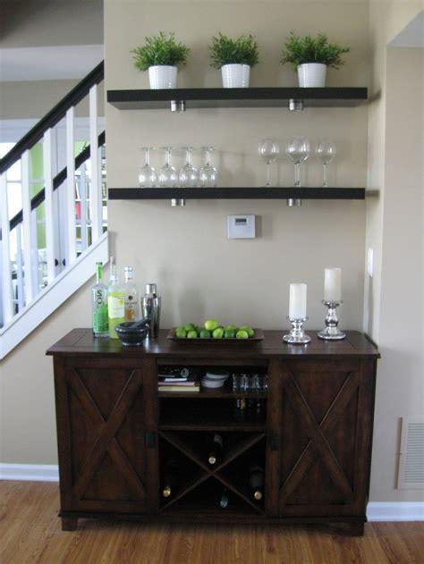 Living Room Bar Area  Ikea Lack Shelves, World Market