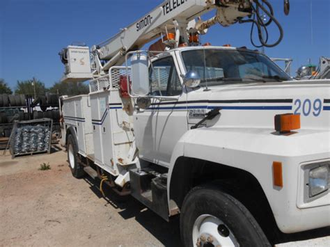 electric truck for sale 1993 ford f800 electric utility truck for sale ford