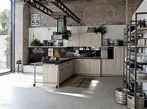 30 exemples de decoration de cuisines au style industriel With cuisine style loft industriel