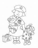 Coloring Nurse Pages Preschool Dolls Printable Lil Stamps Digi Dearie Sheet Getcolorings Paper Yooper sketch template