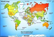 World map | World map showing all the continents with all ...