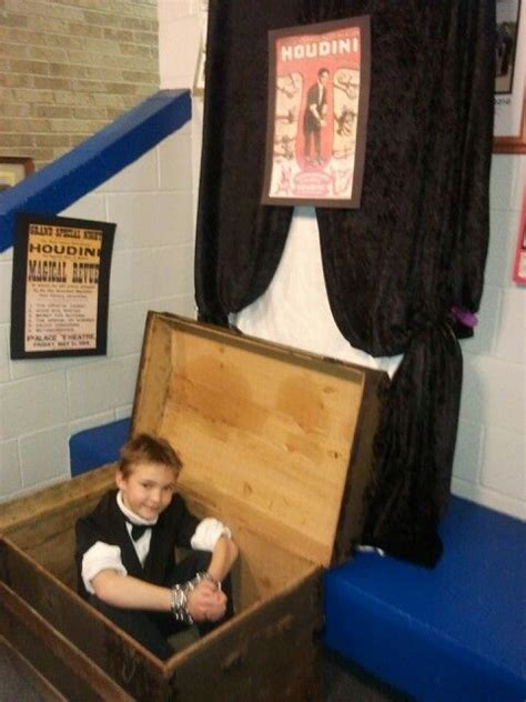 project houdini harry houdini wax museum for school project neat ideas wax museum biography project