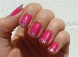 Pink gel nails nail designs picture