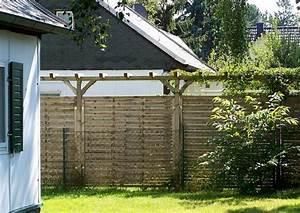Sichtschutzelemente Aus Holz : sichtschutz holz einbetonieren ~ Sanjose-hotels-ca.com Haus und Dekorationen