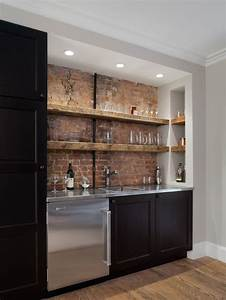 home bar design ideas remodels photos With kitchen colors with white cabinets with climbing man wall art uk