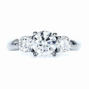 custom three stone diamond engagement ring 1156 With 3 stone diamond wedding rings