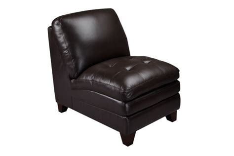 amaretto leather armless chair