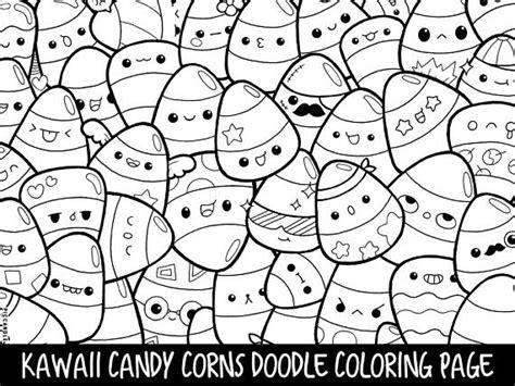 candy corns doodle coloring page printable cutekawaii