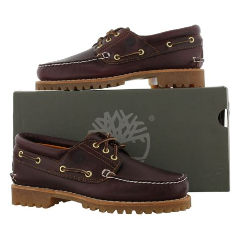 Timberland Heritage Boat Shoes Uk by Timberland 50009 Heritage 3 Eye Brown Leather Deck Boat